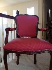 Reupholstery in progress